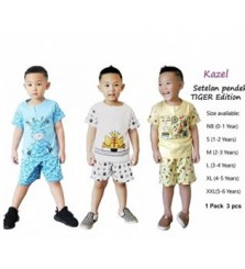 Baju Stelan Pendek Kazel Tiger Edition